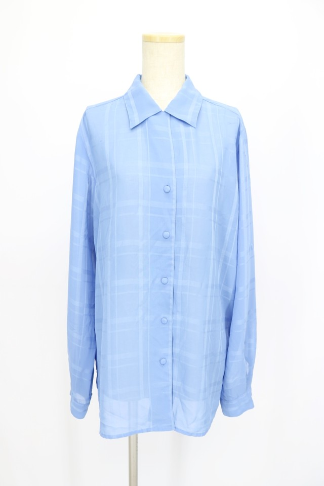 see-through design blouse / L BLU