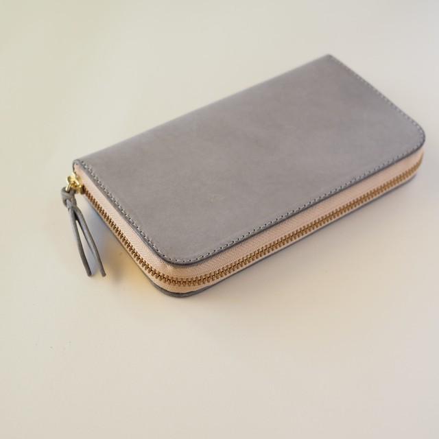 コの字ファスナーの定番長財布 / キャメル