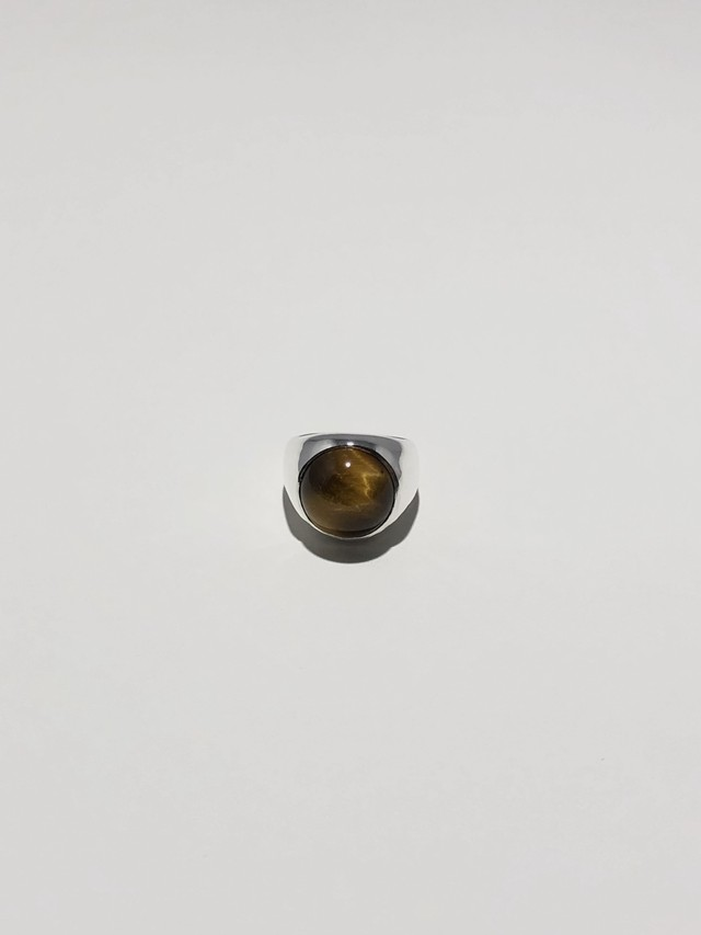 tiger eye gem wide ring (再入荷)