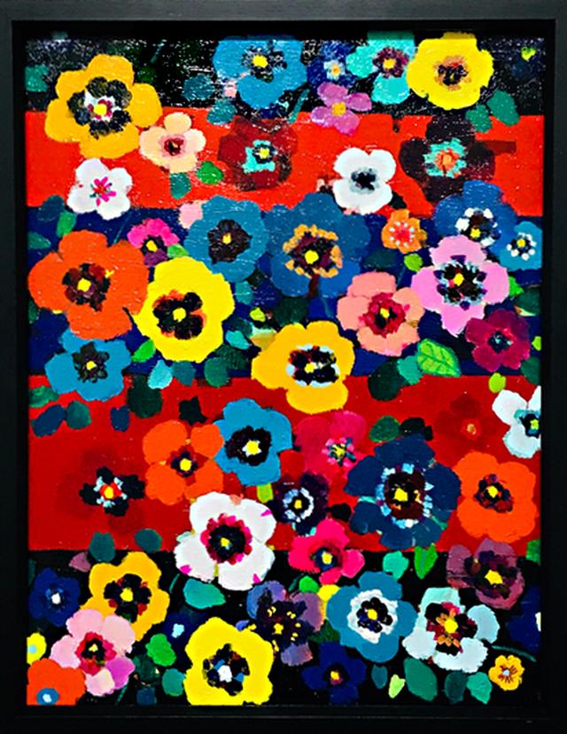 油彩画*秋のもり 油彩*キャンバス* 2008