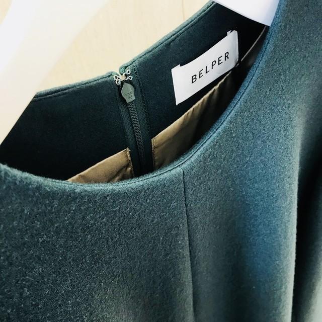BELPER SLASHED WOOL DRESS
