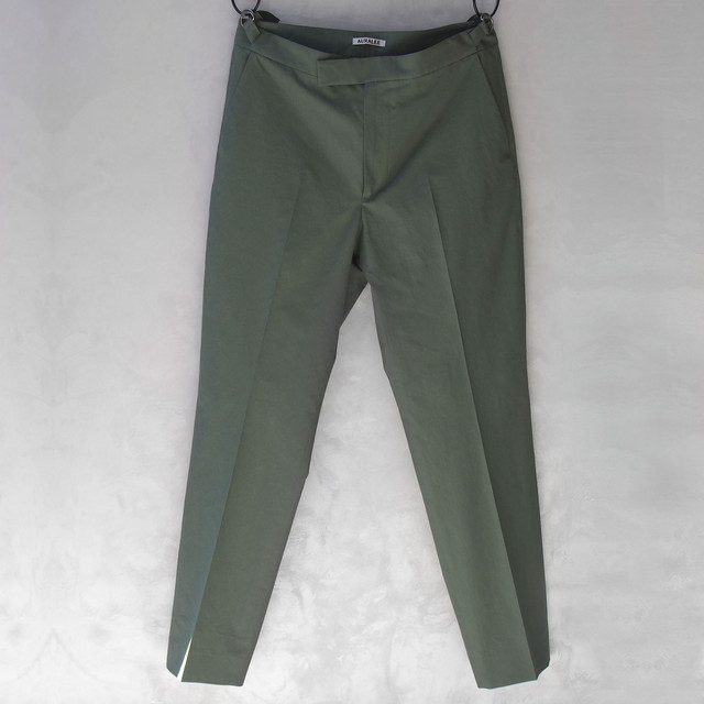 <30%OFF>AURALEE WASHED FINX RIPSTOP SLACKS OLIVE GREEN