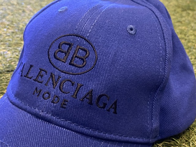 BALENCIAGA BB LOGO MODE CAP BLUE L 59cm 125IC2614