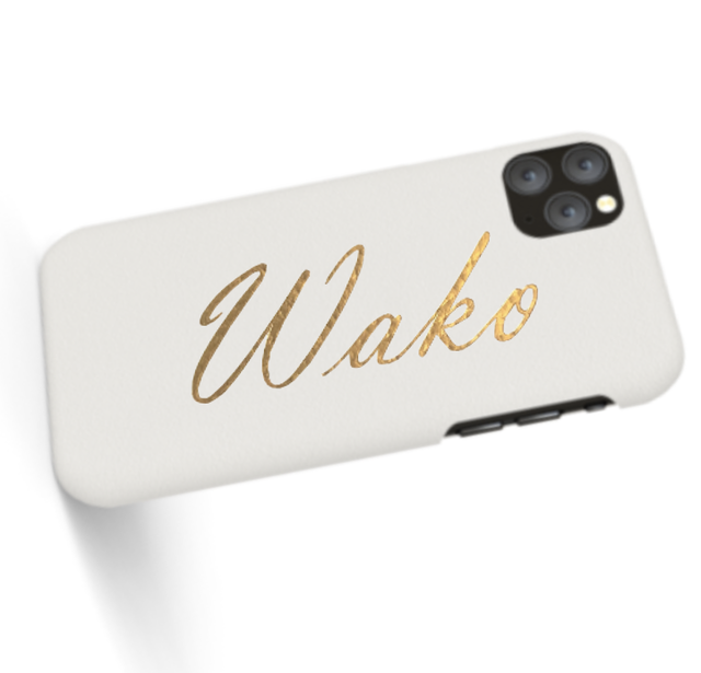 Custom Name iPhone with Premium Smooth Leather Case (Limited/9月分数量限定)