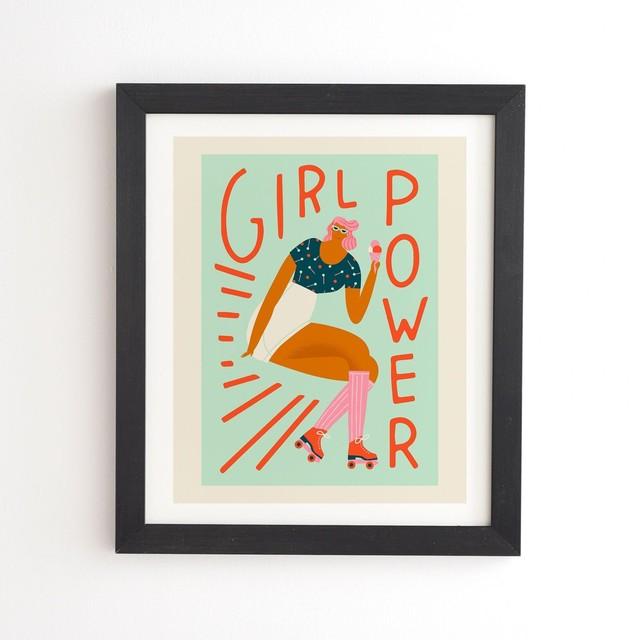 フレーム入りアートプリント ROLLER SKATING GIRL BY TASIANIA【受注生産品: 10月下旬頃入荷分 オーダー受付中          】