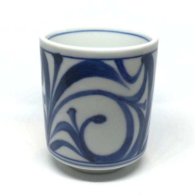 【砥部焼/梅山窯】切立湯呑(太陽)