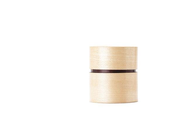 樺細工茶筒 平|かえで