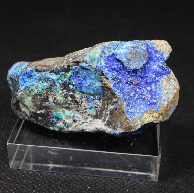 リナライト & カレドナイト 青鉛鉱 カレドニア石 82.9g LN019 鉱物 原石 天然石 パワーストーン