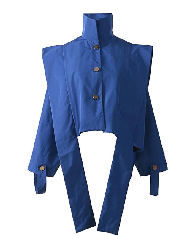 ブルーリボンショートジャケット 韓国ファッション