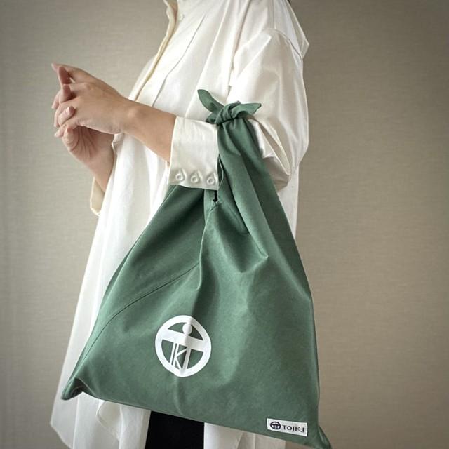 【casual eco bag】エコバッグを超え普段使いもできるあずま袋_カーキ