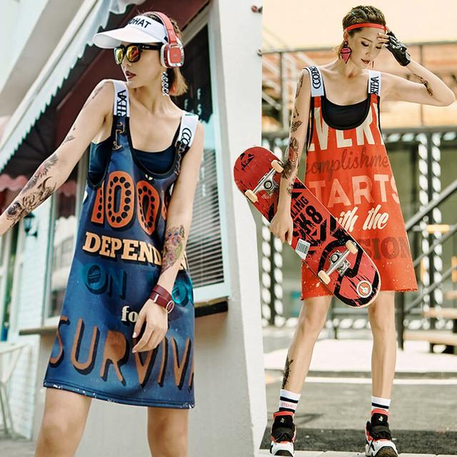 【トップス】カジュアルプリントファッション夏ワンピース44493437