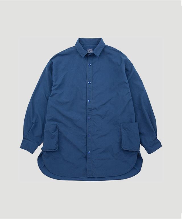 PORTER CLASSIC Weather Shirt Jacket Blue PC-026-1181-10