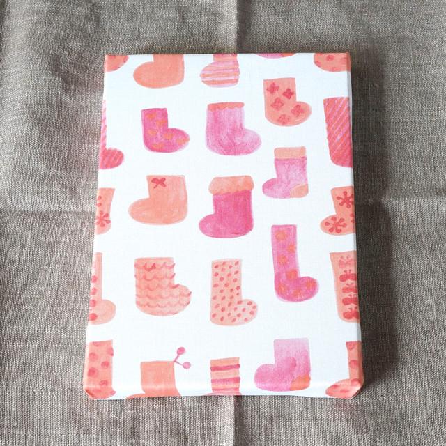 socks ( orange × pink ) ファブリックパネル
