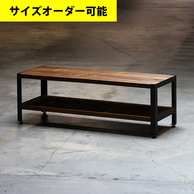 IRON BAR LOW SHELF 100CM[BROWN COLOR]サイズオーダー可