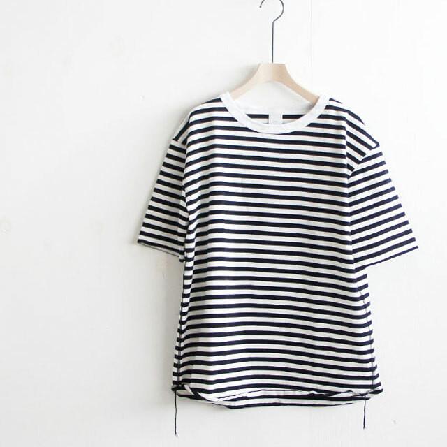have a good day ハブアグッドデイ ボーダールーズTシャツ White/Black レディース Tシャツ ボーダー 半袖 通販 (品番hgd-036b)