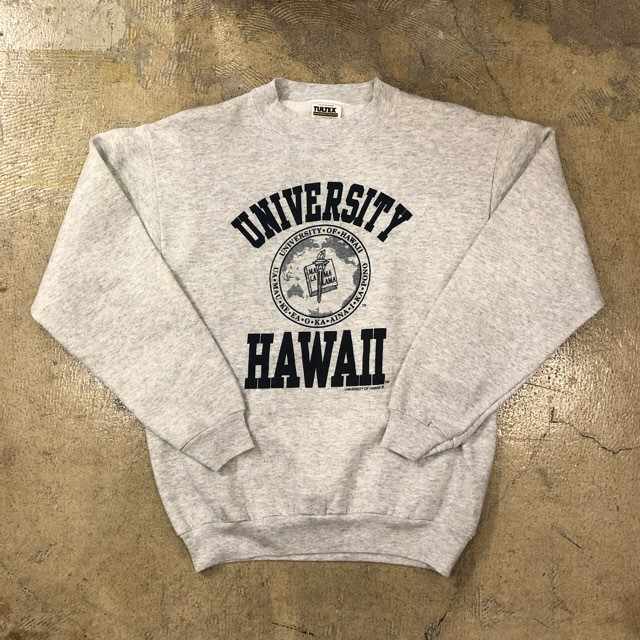 Hawaii University Print Sweat ¥4,400+tax