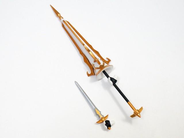 """【884】 """"黒""""のライダー 小物パーツ 剣と槍 ねんどろいど"""