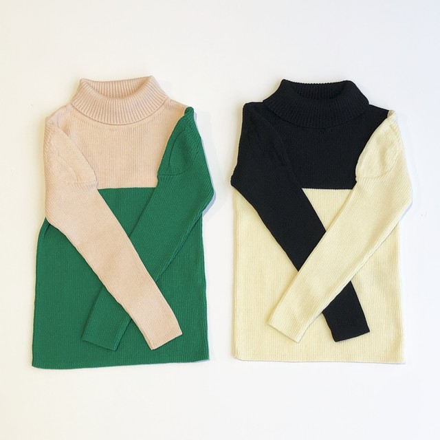 【19AW】フランキーグロウ ( franky grow ) WELL SHOULDER HIGH-NECKED KNIT [ S / M / L ]