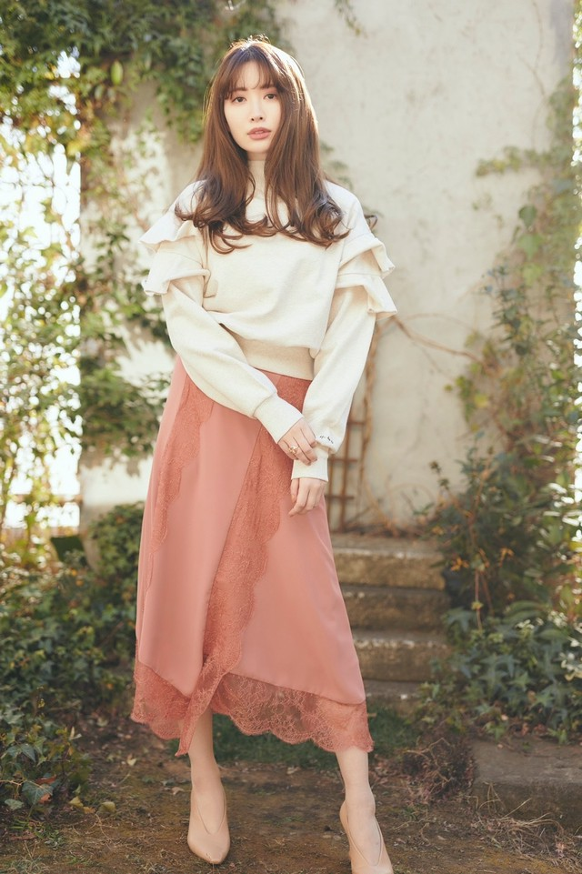 Ruffled Cotton-Jersey Sweatshirt【off white】