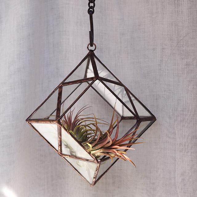 Hanging Terrarium D - Gold