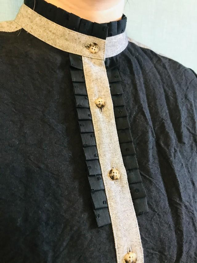 Ltd. バンブーコットンリネン フリルシャツ