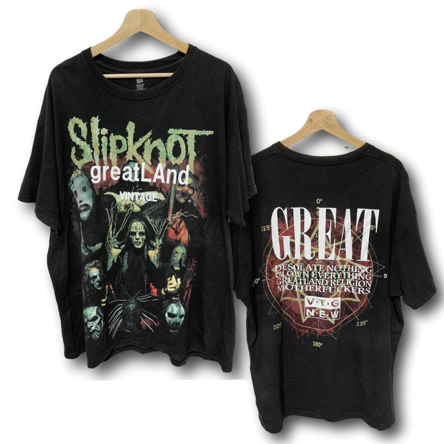 greatLAnd VINTAGE SLIPKNOT TEE BLACK XL