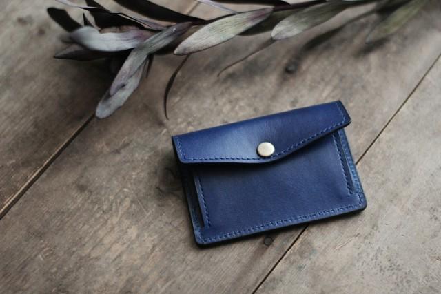 藍染革[migaki] カードウォレット