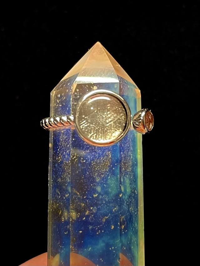 1) ギベオン隕石・リング