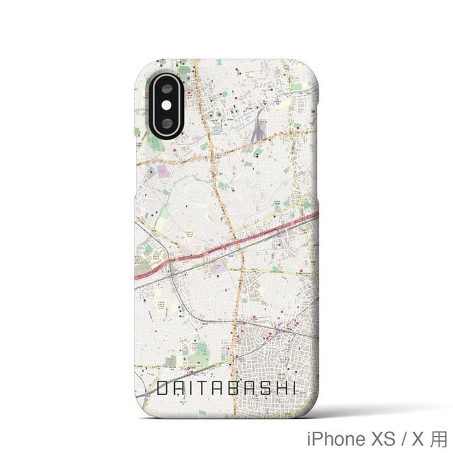 【代田橋】地図柄iPhoneケース(バックカバータイプ・ナチュラル)