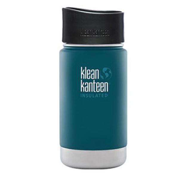 Klean Kanteen ワイドインスレートボトルカフェキャップ2.0 12oz ネプチューンブルー