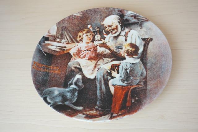 ノーマンロックウェル 絵皿(114-16)
