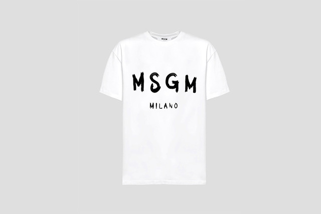 【MSGM】ロゴTシャツ  ホワイト イエロー レッド ピンク ブラック【2019SS】