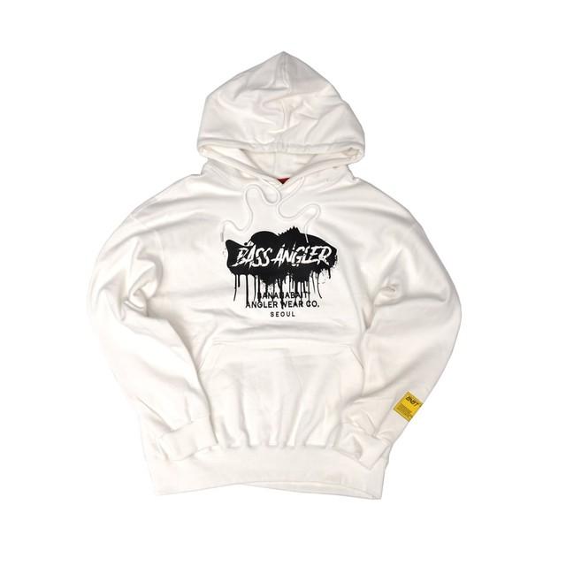 【Banana Bait】Banana Bait Bass Angler Hoodie / White