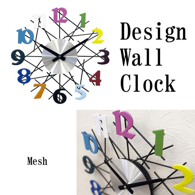 【壁掛時計】デザインウォールクロック[メッシュ