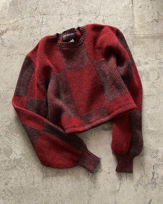 remake vintage cropped knit made in USA