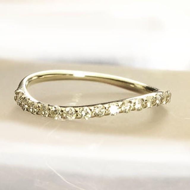 ハーフエタニティリング K18ピンクゴールド 0.3ctダイヤモンド