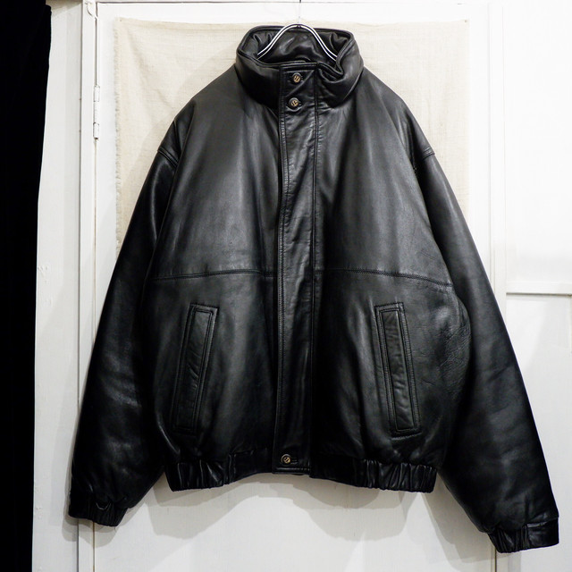 "【専用】1980s ""Eddie Bauer"" leather × goose down jacket"
