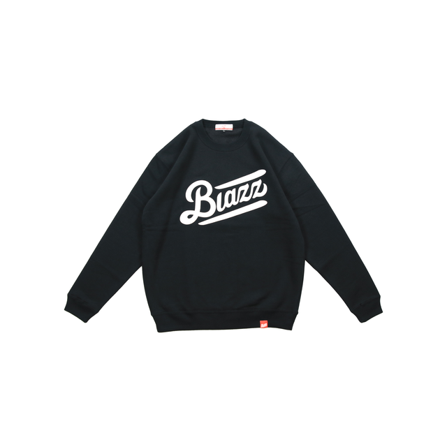 LOGO CREW NECK SWEATSHIRT [BLACK/WHITE]