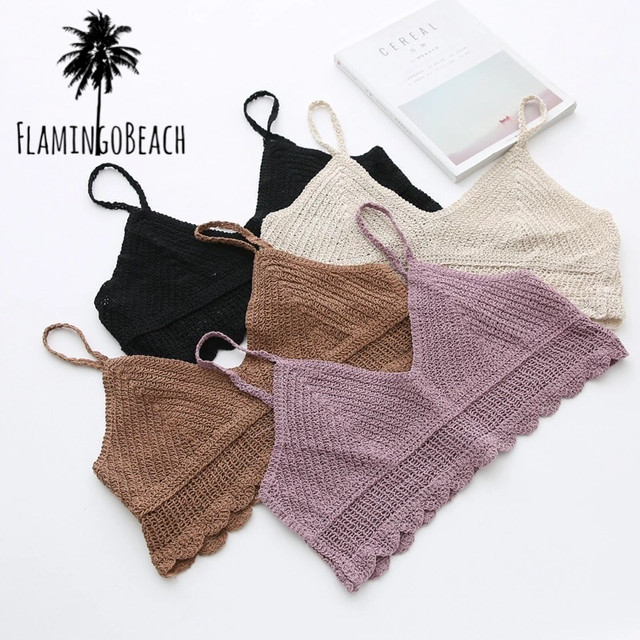 【FlamingoBeach】summer knit camisole ニットキャミソール