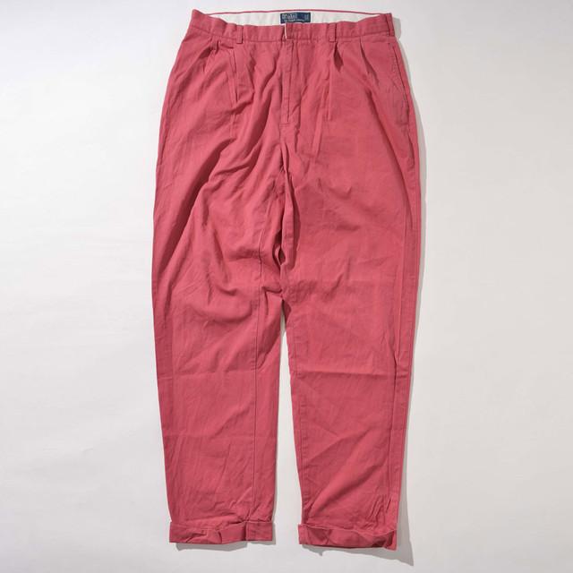 【W36】Polo Ralph Lauren ポロラルフローレン Chino Pants チノパンツ RED レッド 36×34 400612191210