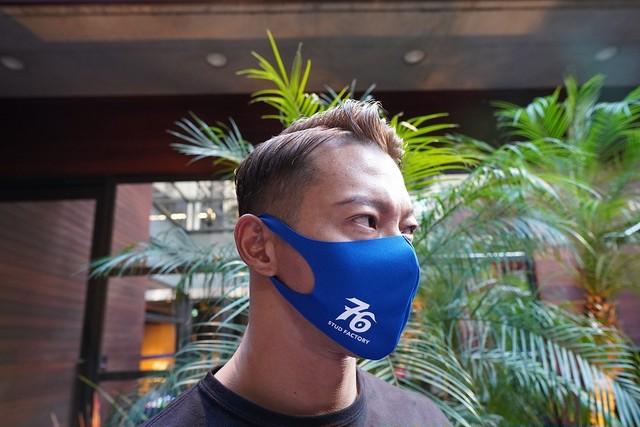 残りわずか!No,76 logo dry fit mask(ROYAL BLUE)