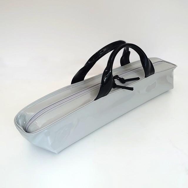 [ sugaya design lab エナメルバッグ ]  ご予約 hosonaga  L グレー+ブラック