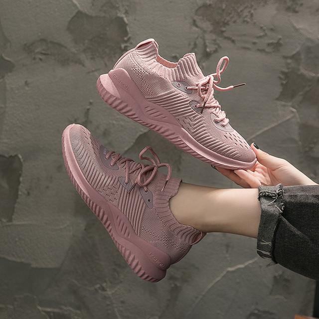 【shoes】メッシュ透かし彫り丸トゥスウィートスニーカー 22582657