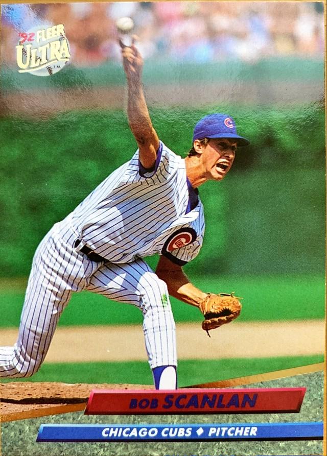 MLBカード 92FLEER Bob Scanlan #473 CUBS