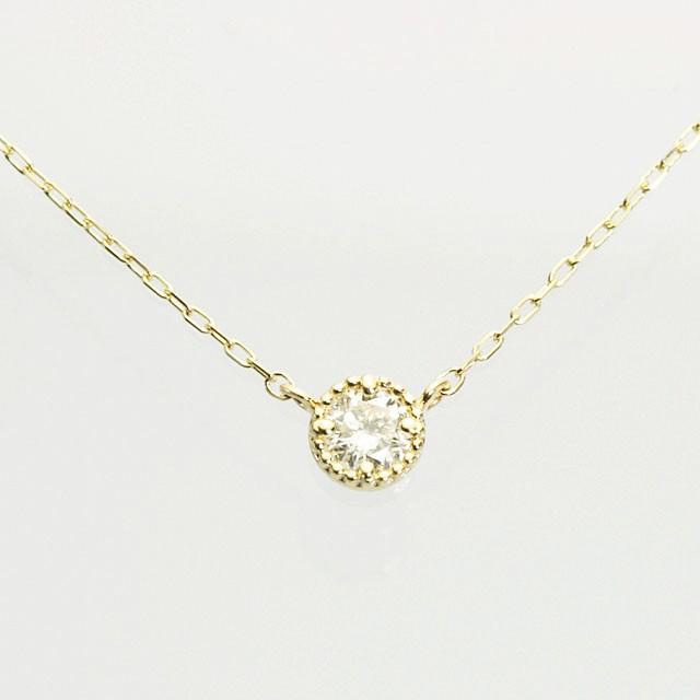 デザイン ダイヤモンドペンダント K18 0.15CT 40cm