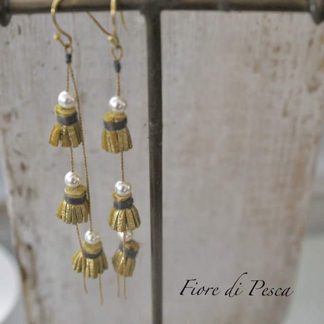 Beatrice Tassel Pierce (Earing) pearl