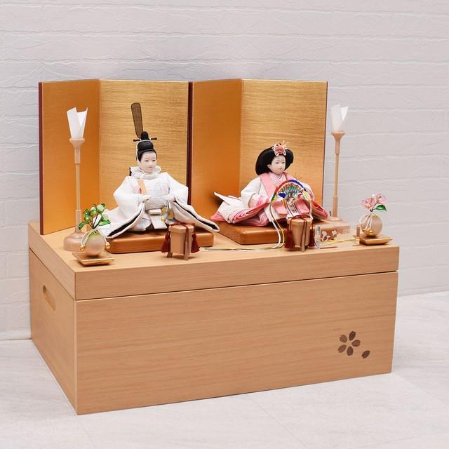 雛人形 親王飾り<桜穂乃花>収納上手