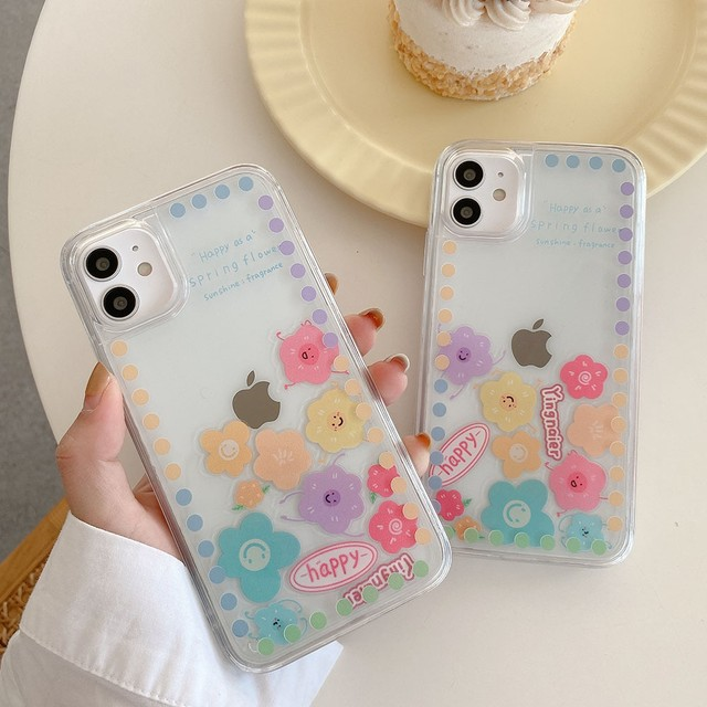 流れる♪ colorful flower iphone case