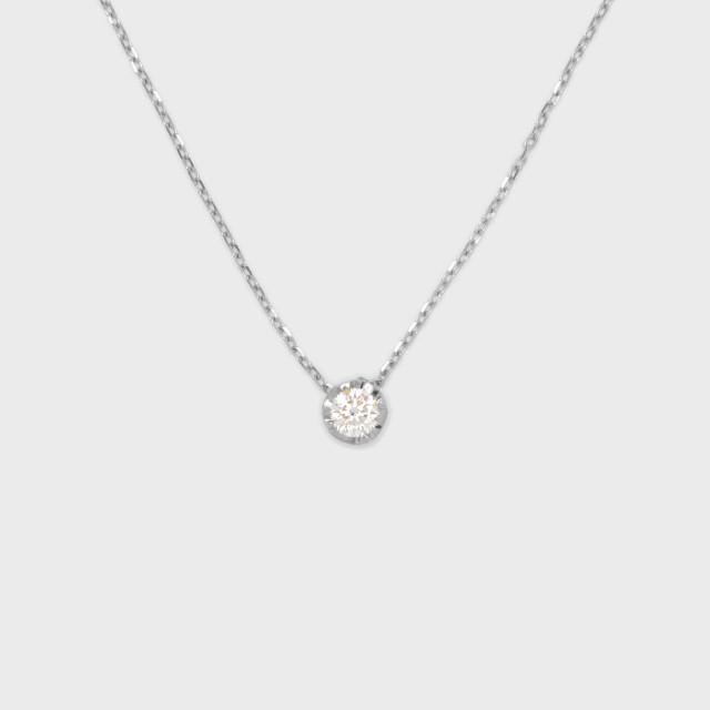 ENUOVE NOTTE Diamond Necklace Pt950(イノーヴェ ノッテ 0.25ct ダイヤモンドネックレス プラチナ950 スライドアジャスターチェーン)