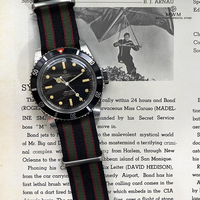 WMT WATCH SEA DIVER Red Top Gilt Bond  (NH35) WMT1894-05